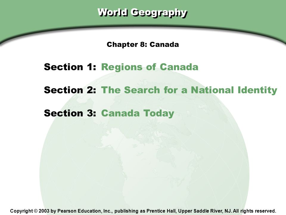 Section 1: Regions of Canada
