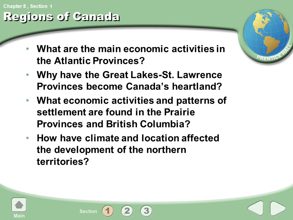 1 Regions of Canada. What are the main economic activities in the Atlantic Provinces