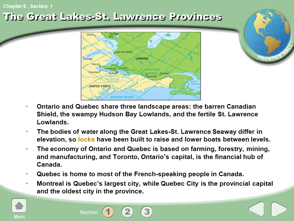The Great Lakes-St. Lawrence Provinces