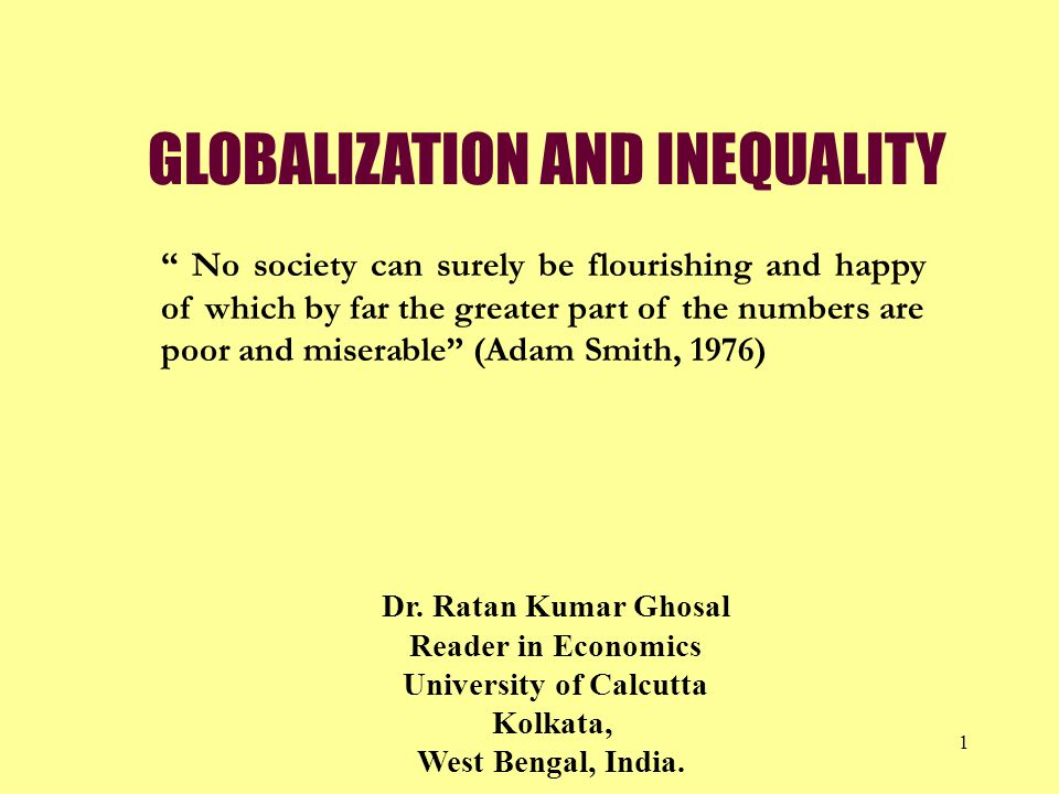 globalization and inequality This paper surveys trends in both international economic integration and inequality over the past 150 years, as well as the links between them in doing so, it distinguishes between (a) the.