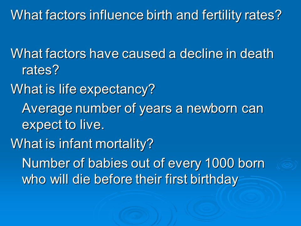 factors influencing fertility and mortality in developing and developed countries The present paper deals with the topic of fertility in developing countries and takes as its point of  factors can reduce fertility in a  influence on fertility .