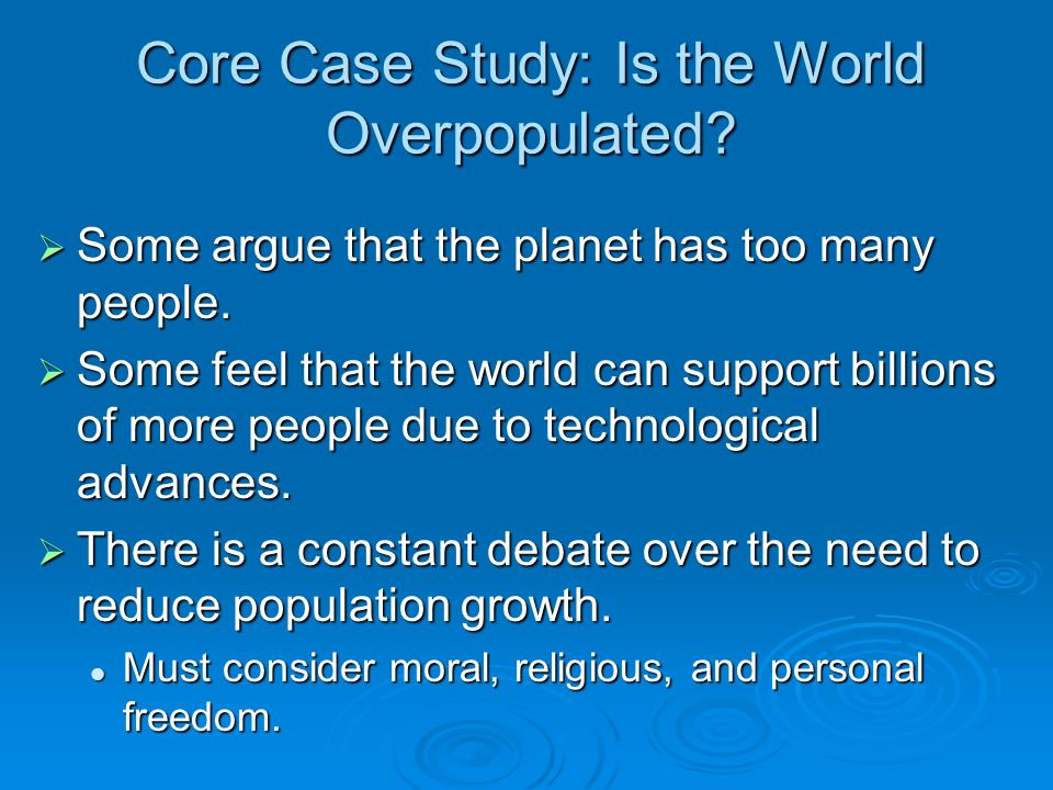 an analysis of the factors that decrease the population of the world Human population growth is becoming a huge issue in our world today the population is increasing rapidly the reason that it is becoming a concern is because it has affected the economic, environmental, and social aspects of our world.