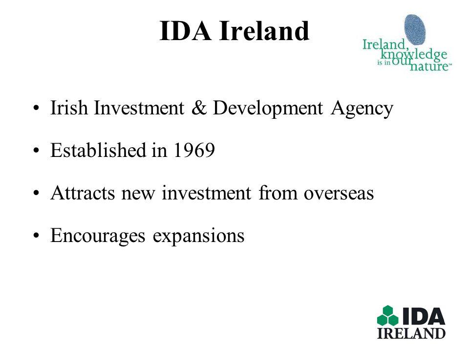 IDA Ireland Irish Investment & Development Agency Established in 1969