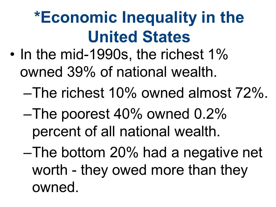 economic inequality united states essay Inequality in the united states 889 words   4 pages topics discussed during this political science course is the political and economic inequality that has recently risen to staggering levels in the united states.