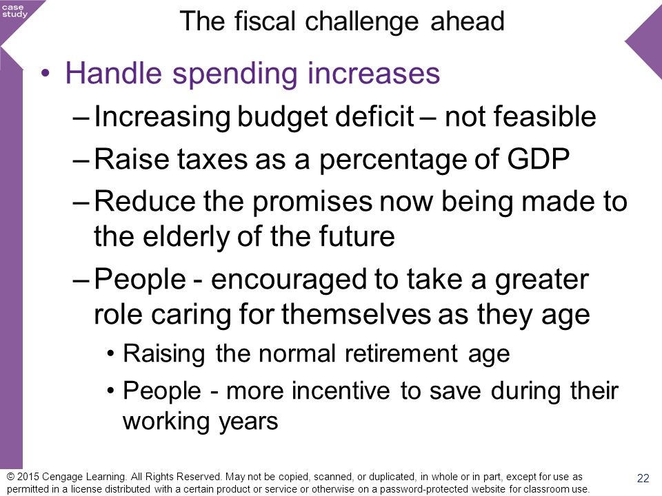 The fiscal challenge ahead