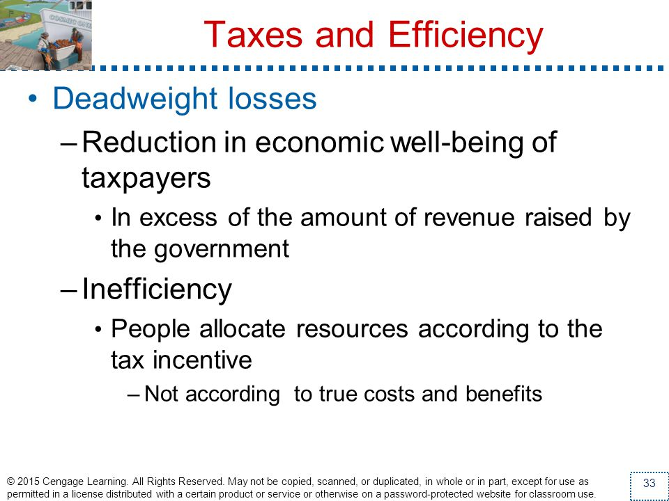 Taxes and Efficiency Deadweight losses