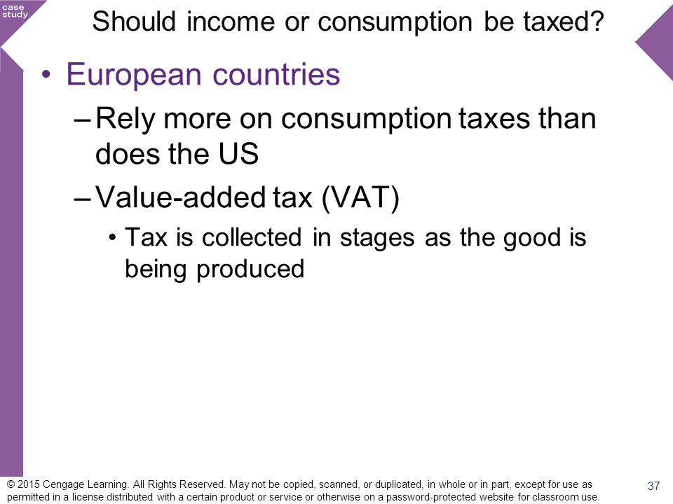 Should income or consumption be taxed