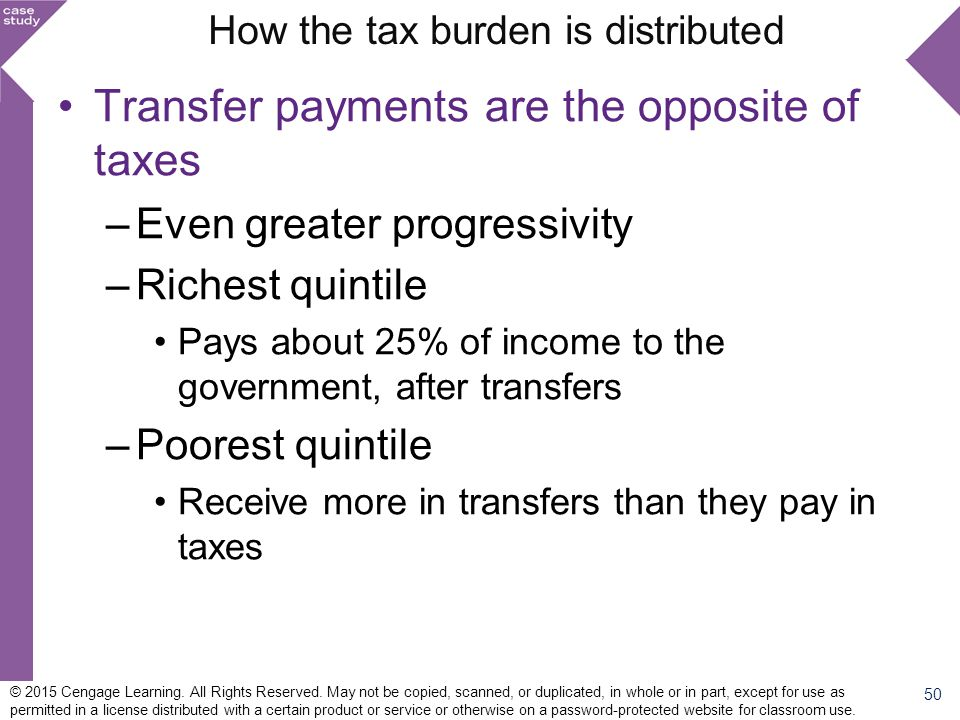 How the tax burden is distributed