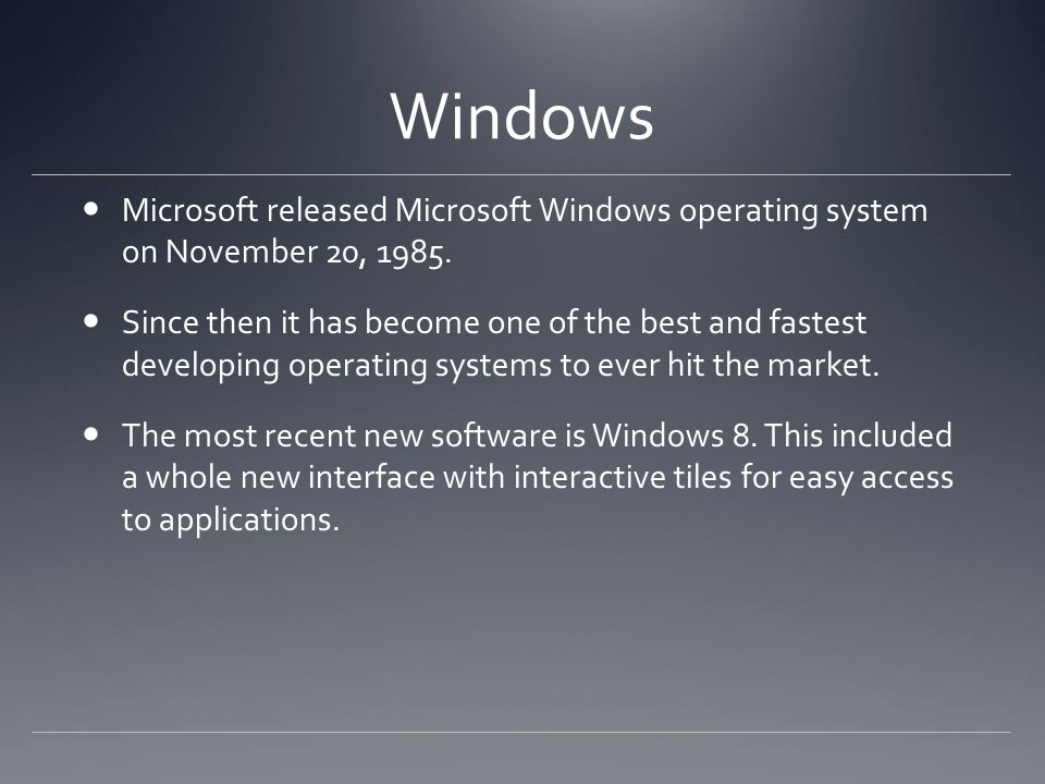 List of Microsoft operating systems