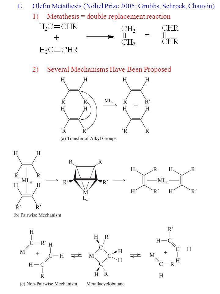 pairwise mechanism olefin metathesis
