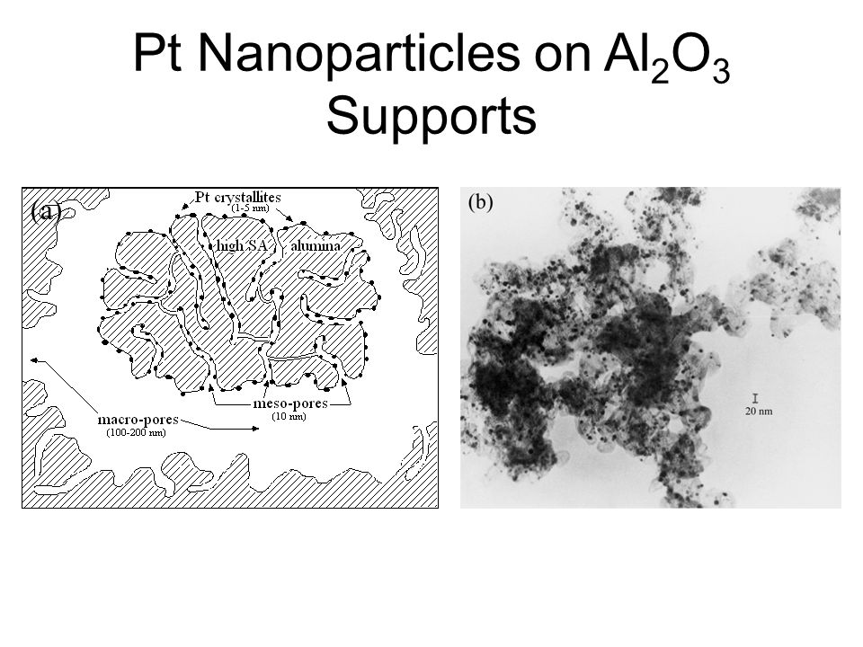 Pt Nanoparticles on Al2O3 Supports
