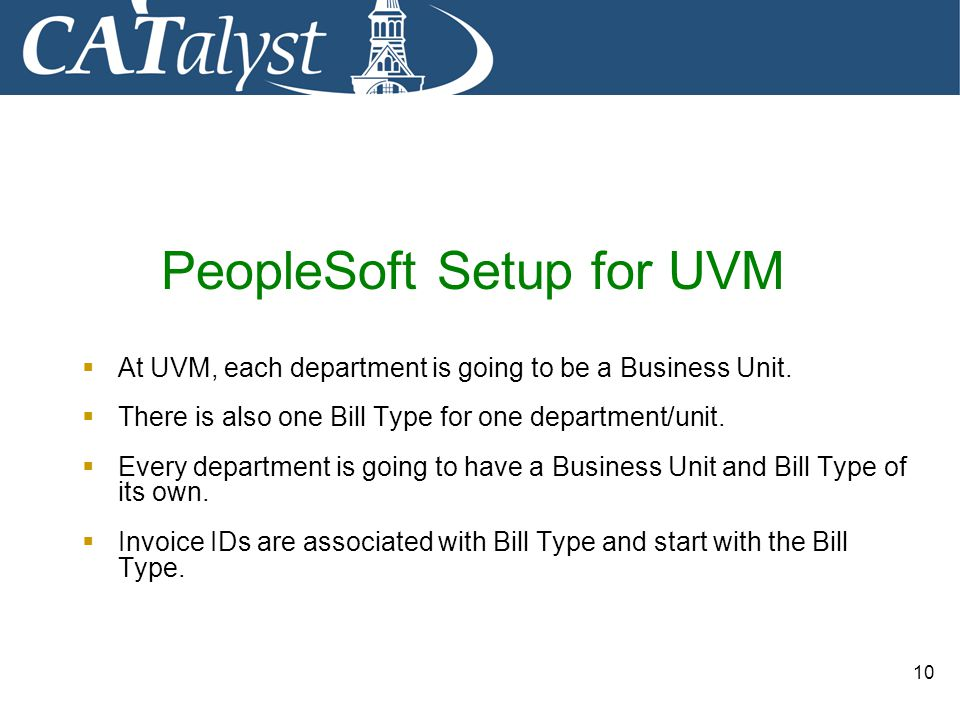 PeopleSoft Setup for UVM