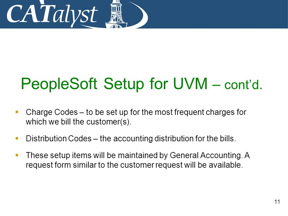 PeopleSoft Setup for UVM – cont'd.
