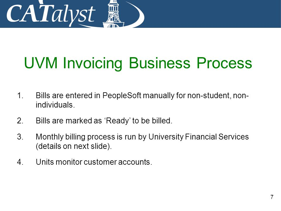 UVM Invoicing Business Process