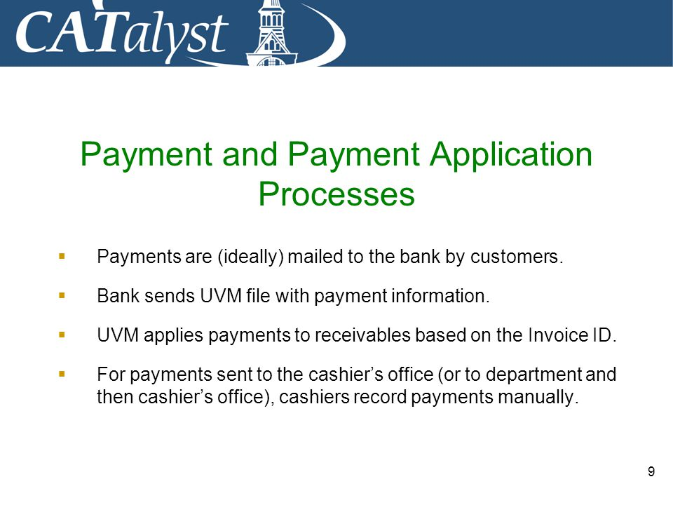 Payment and Payment Application Processes