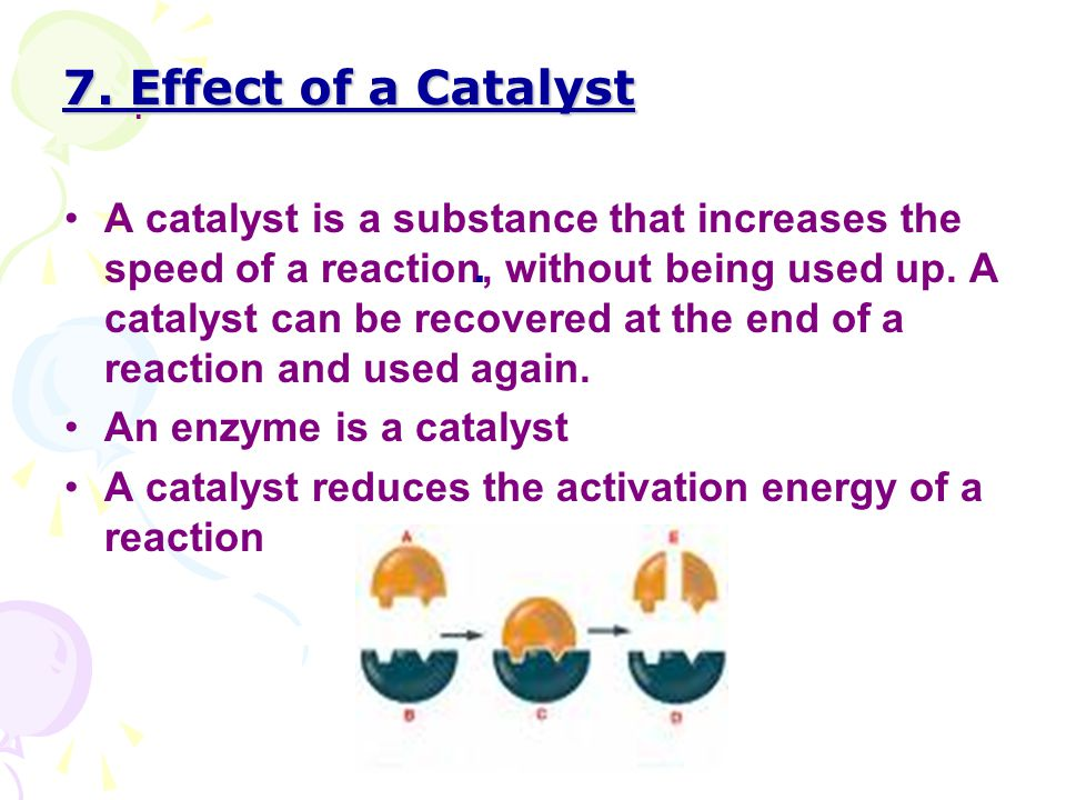 7. Effect of a Catalyst .