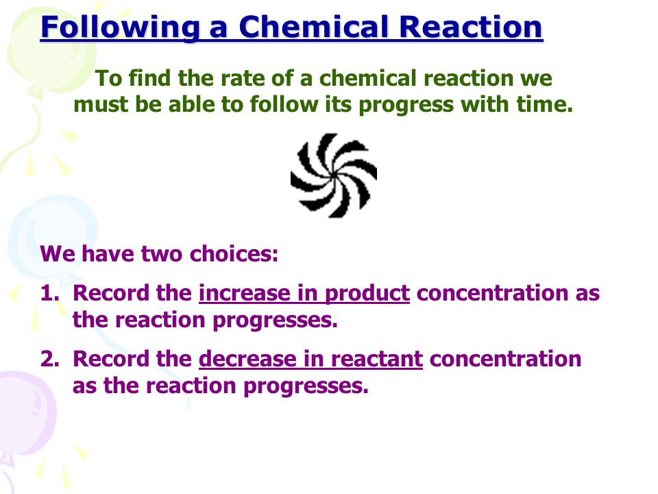 Following a Chemical Reaction