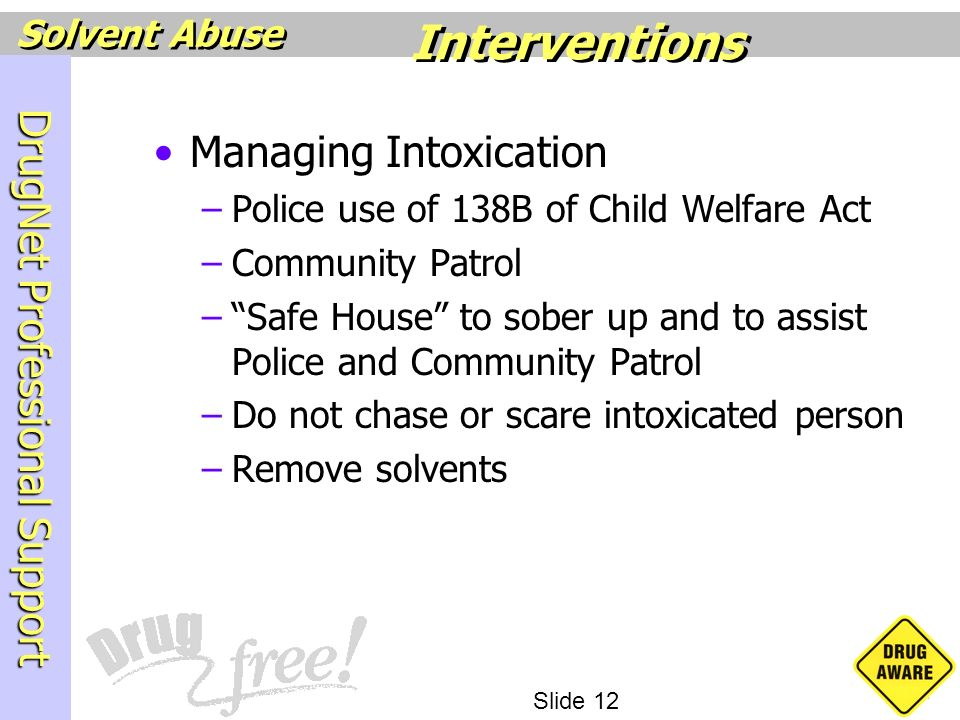 Interventions Managing Intoxication