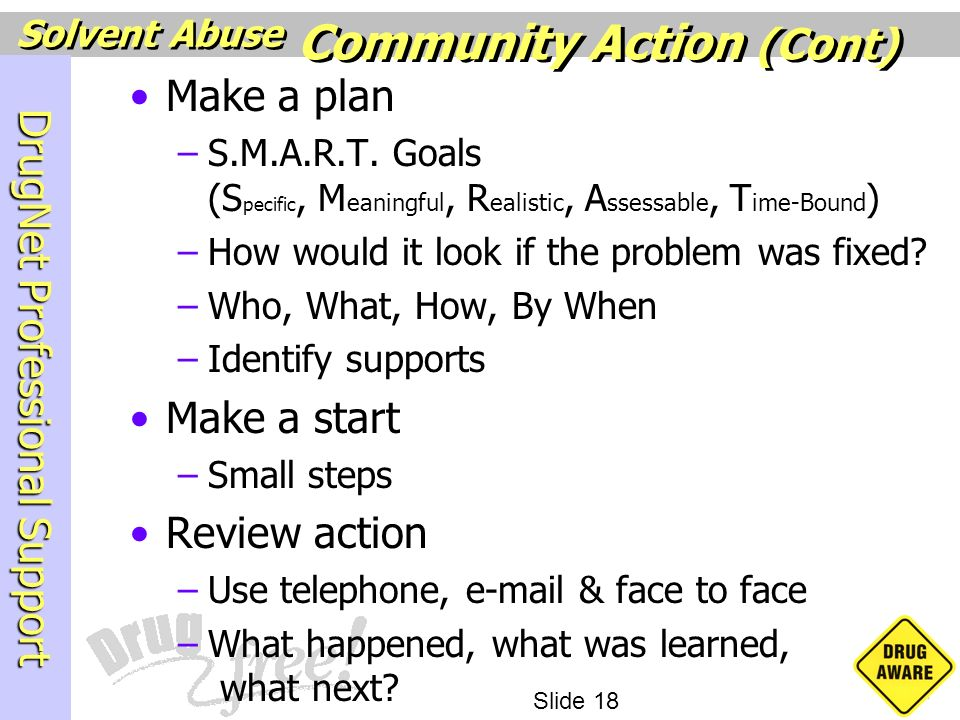 Community Action (Cont)