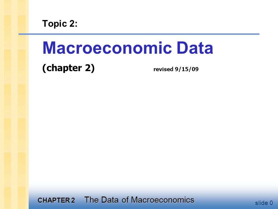 Learning objectives In this chapter, you will learn about how we define and measure: Gross Domestic Product (GDP)