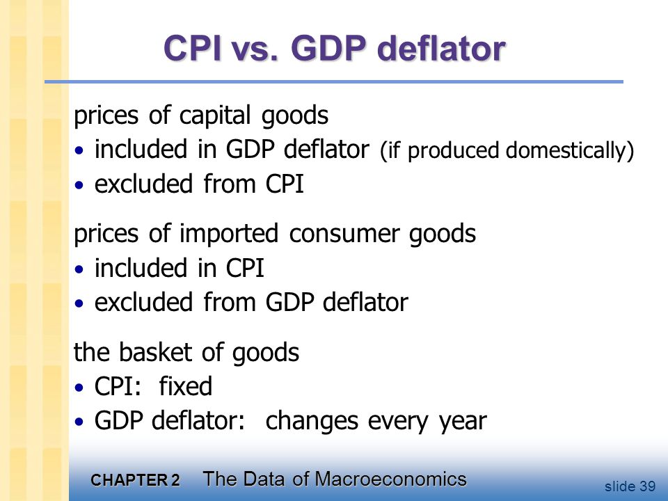 Two measures of inflation