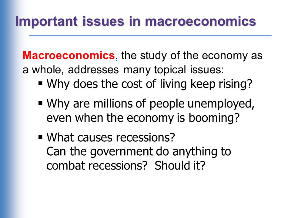 Important issues in macroeconomics ppt download important issues in macroeconomics toneelgroepblik Gallery