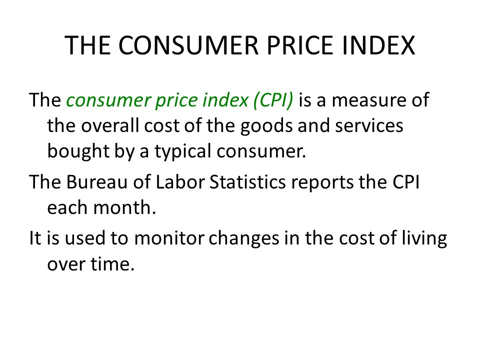 Consumer price index cpi bureau of labor for Bureau of labor statistics
