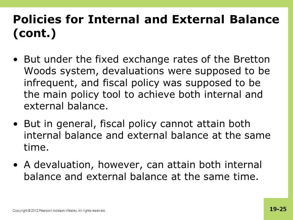 Internal and External Balance