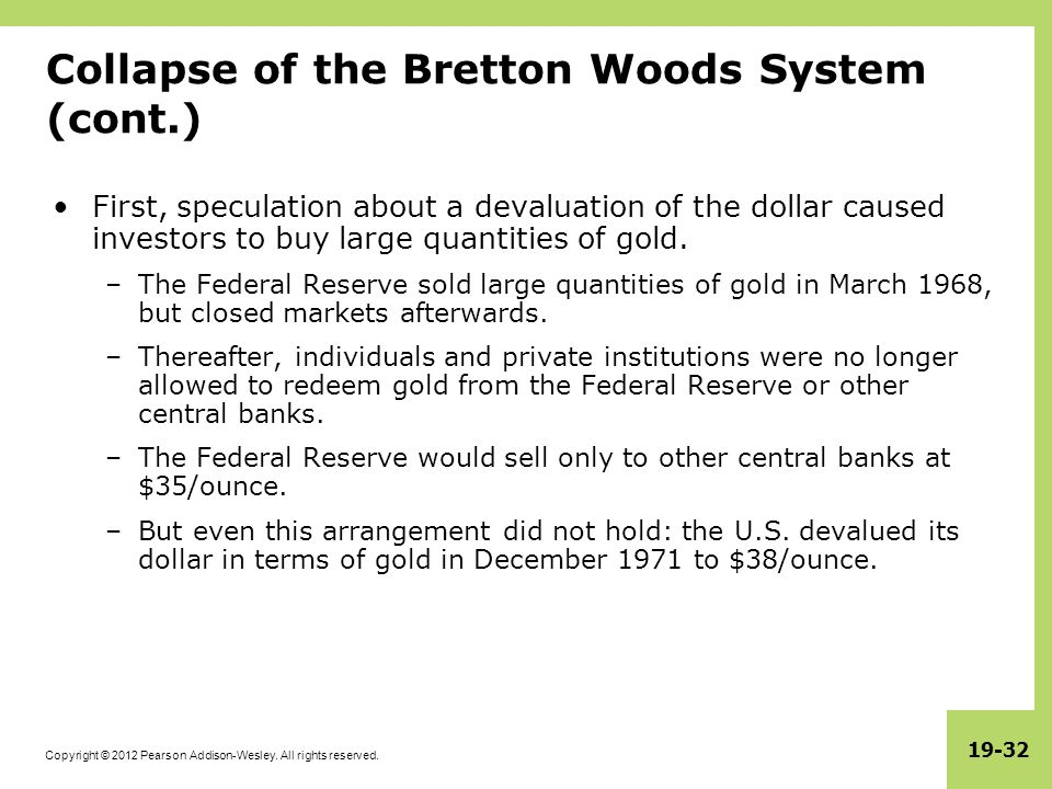 International monetary systems an historical overview ppt download collapse of the bretton woods system cont platinumwayz