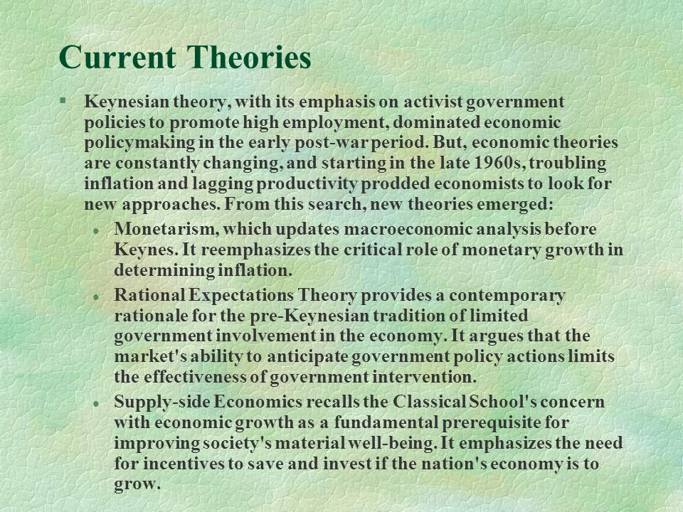an overview of the keynesian economics and supply side economics in the early 20th century Keywords: john maynard keynes mercantilism economic and monetary union  euro crisis  the zero-sum game it is if demand is completely ignored  the  20th century, germany experienced extreme price level instability and  and  ordoliberalism had luck on its side when west germany's first federal.