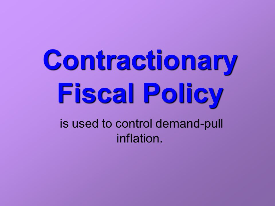 fiscal policy to control inflation pdf