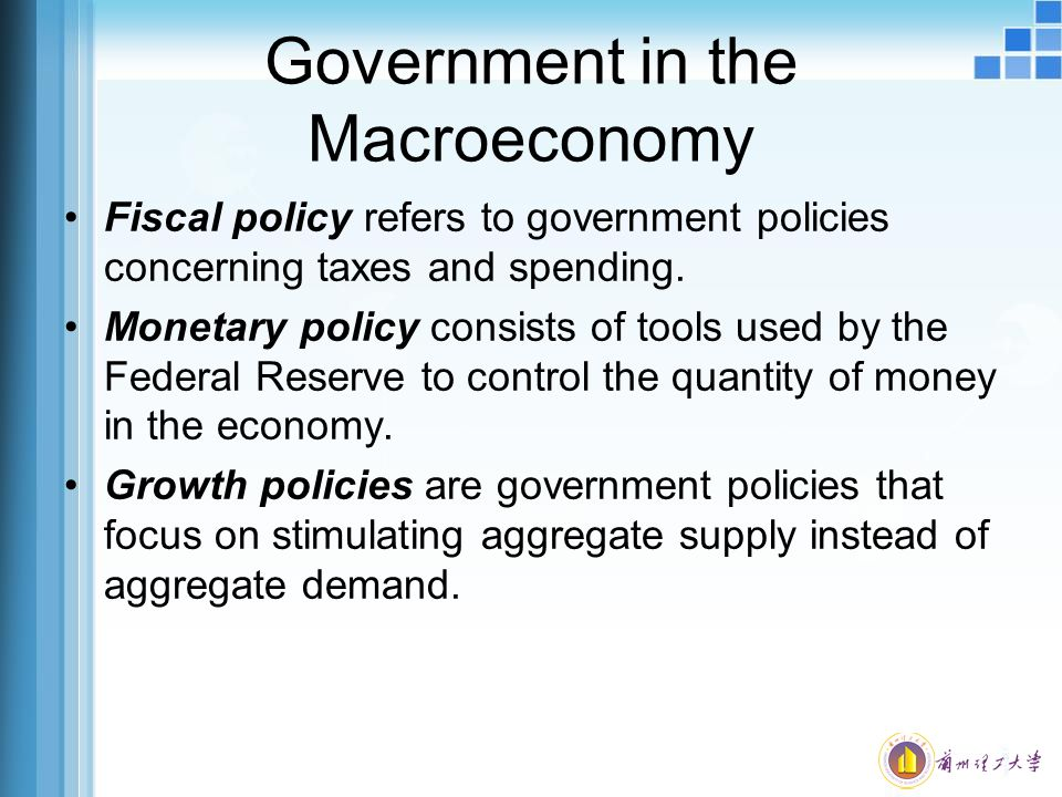 an analysis of the monetary and fiscal controls by the federal reserve and government in stimulating Relative effectiveness of monetary and fiscal policies on output growth in  intermediate policy target of the federal reserve system because of the continuously  by the fiscal.