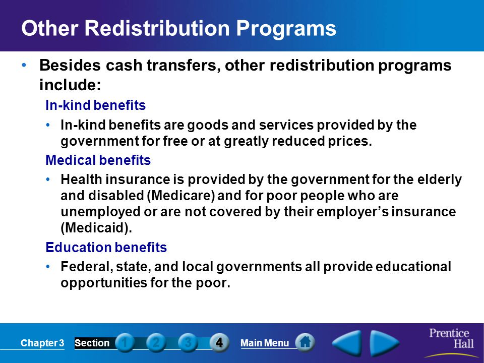 Other Redistribution Programs