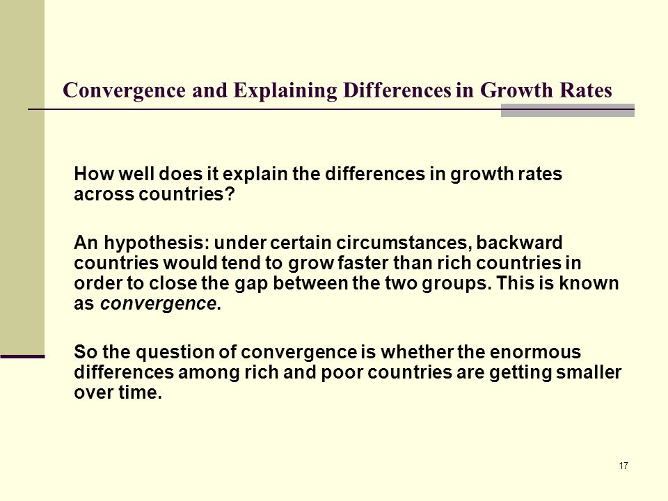 the theory and empirical evidence about the gap between rich and poor countries Testing the convergence hypothesis for oecd countries: a reappraisal 3 analysis of gdp per capita series of the countries under consideration4 most of the empirical studies using the oecd countries as a sample have reached different conclusions if the cross-sectional, panel or time-series.