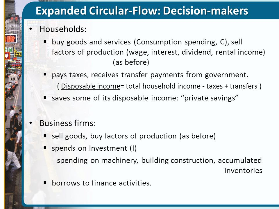 Expanded Circular-Flow: Decision-makers