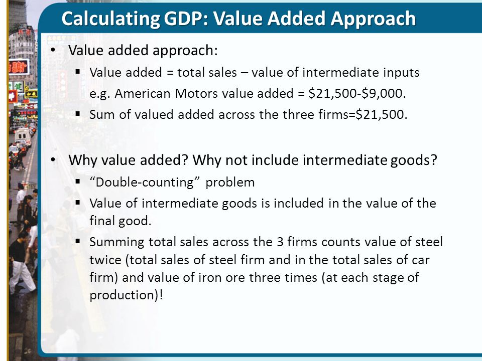 Calculating GDP: Value Added Approach