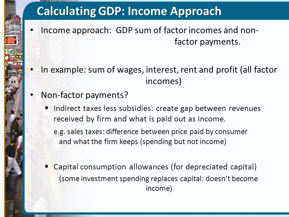Calculating GDP: Income Approach
