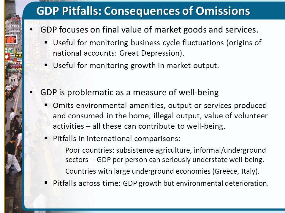 GDP Pitfalls: Consequences of Omissions