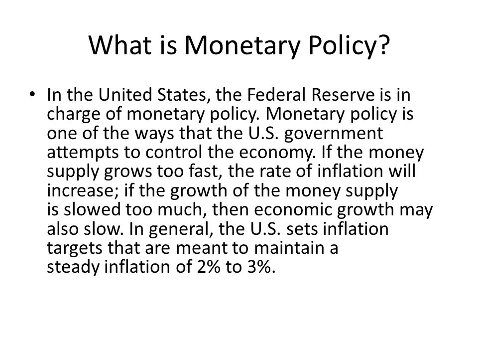 an analysis of the federal reserve monetary policy in the united states Monetary policy notes whose members are _____ by the president of the united states and the major monetary policy tool of the federal reserve system is.