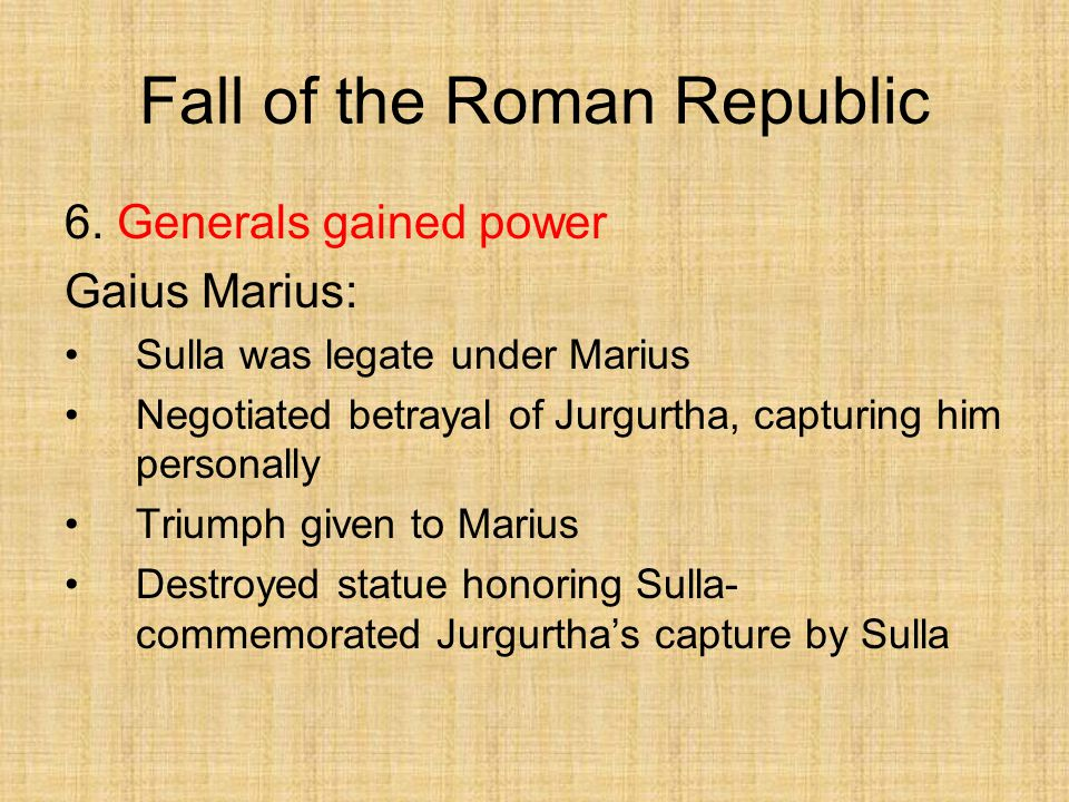 fall of the roman republic Fall of the roman republic by plutarch, 9780140449341, available at book depository with free delivery worldwide.