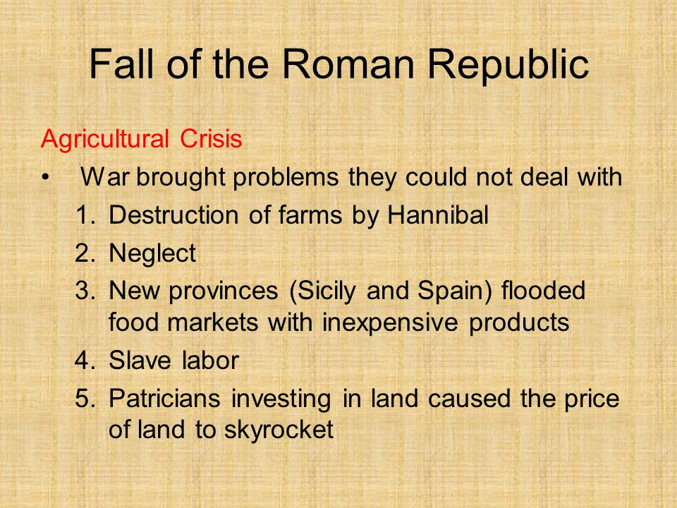 what caused the downfall of the roman republic essay The roman republic (latin: res publica romana classical latin: [ˈreːs ˈpuːblɪka roːˈmaːna]) was the era of ancient roman civilization beginning.
