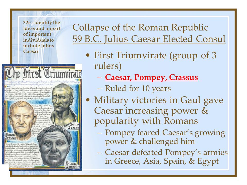 How Did Julius Caesar Affect the Roman Empire?