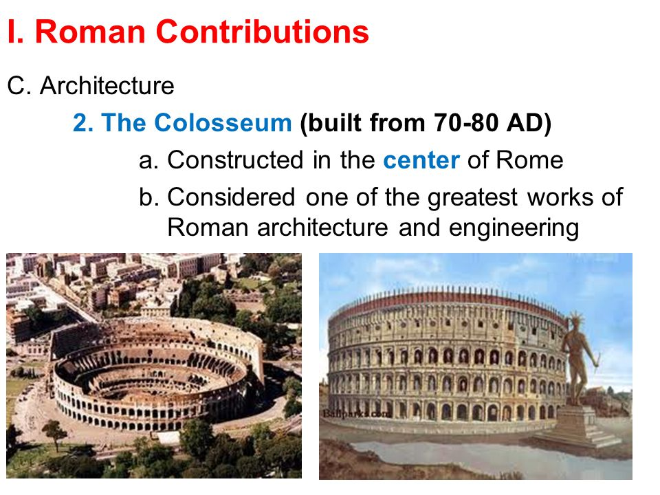 why roman architectures are considered one The architecture of the byzantine empire was a mixture of the earlier greek and roman style with asian/ oriental influences it the central part of this third and final version of hagia sophia hagia sophia is considered one of the greatest.