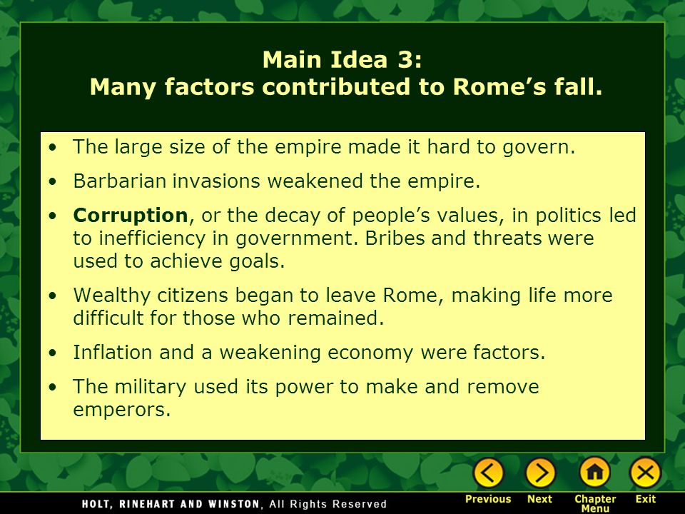 Factors that makes the roman empire invincible