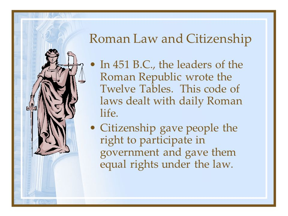 Roman Law and Citizenship