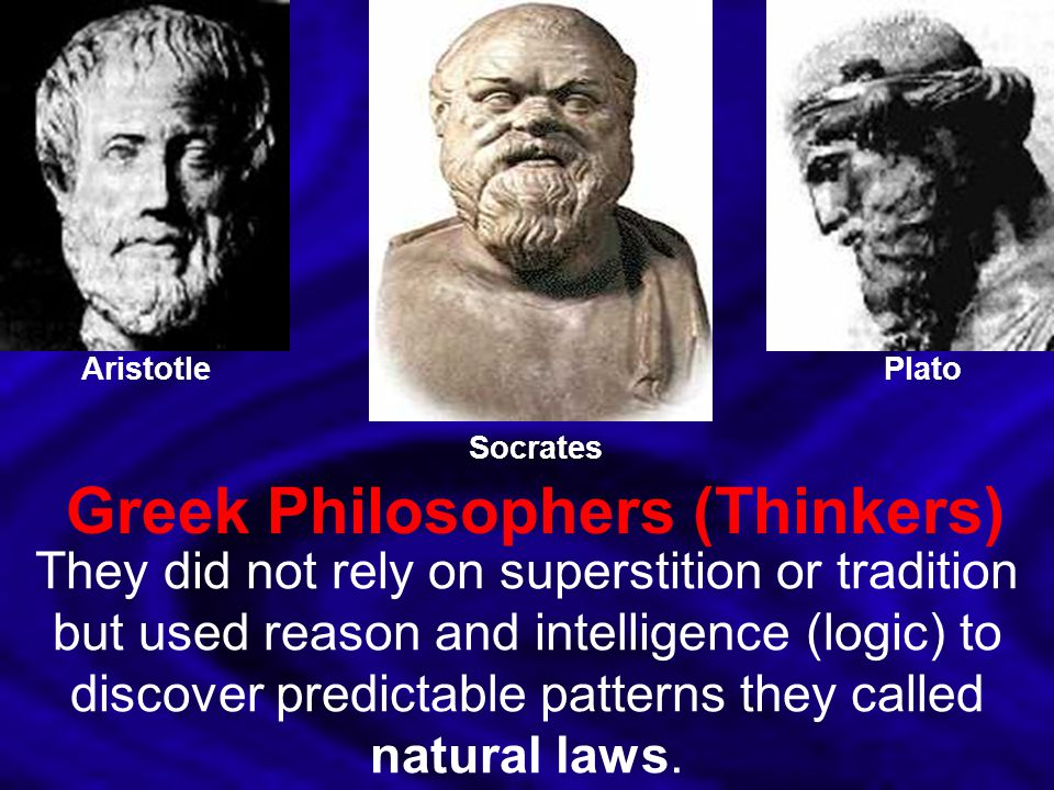 Greek Philosophers (Thinkers)