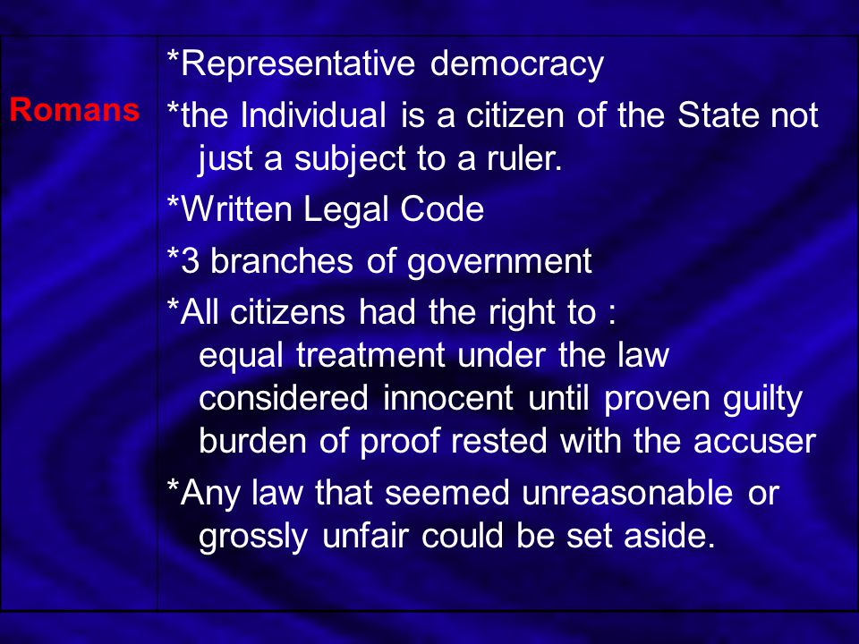 *Representative democracy