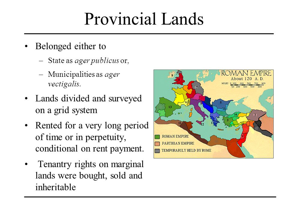 Provincial Lands Belonged either to