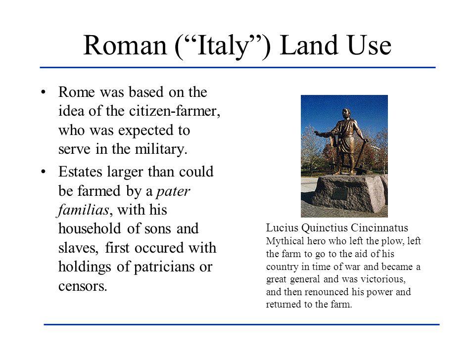Roman ( Italy ) Land Use