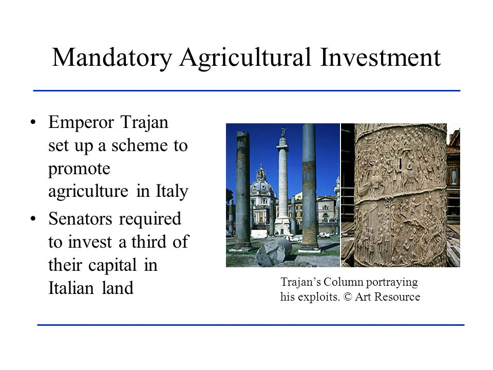 Mandatory Agricultural Investment